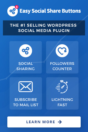 The best WordPress social sharing plugin - Easy Social Share Buttons